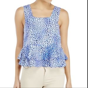 2/$35 Rebecca Taylor Silk Animal Top Size 6